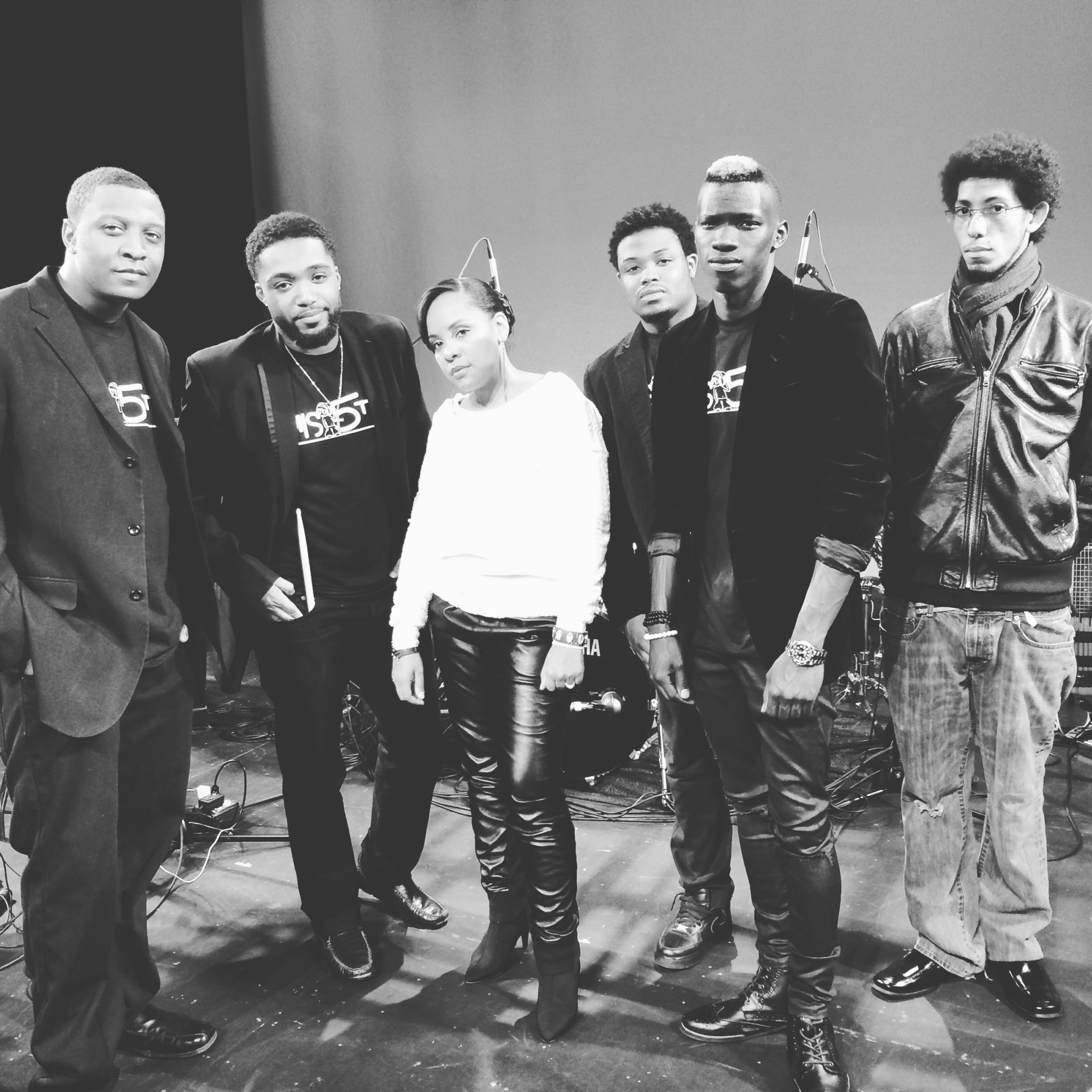 "Robyn Charles with band Misths after ""Daughters of RnB Tour"" show in Old Saybrook, CT at The Kathryn Hepburn Center"