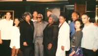 Ray Charles Robinson unites his 12 offspring for the first time in Los Angels, California, Children from left to right: Corey Ryan Robinson, Robyn LaJoya Charles, Evenly Robinson, Ray Robinson Jr., Ray Charles Robinson, Robert Robinson, Raenee Robinson, Reatha Butler Robinson, David Robinson, Alexandria Robinson, Vincent Robinson, robinson clan, family, legacy, siblings